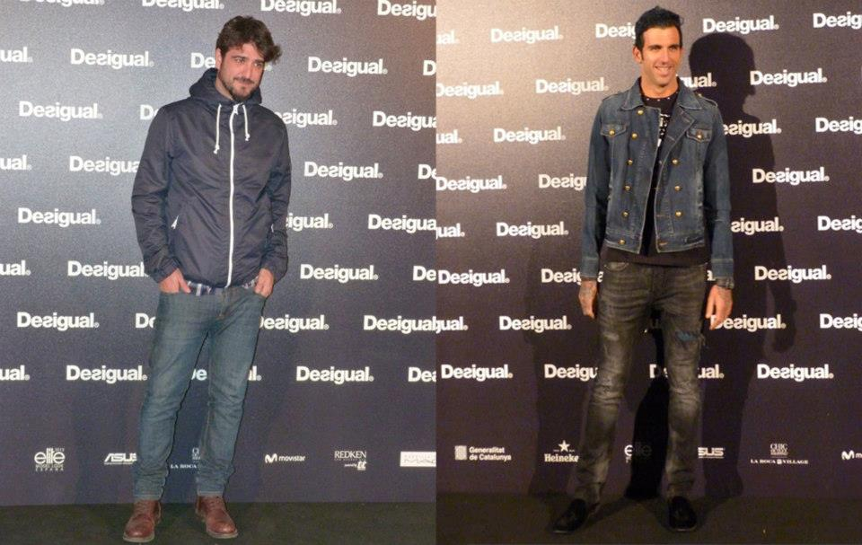 En la imagen dos de los grandes invitados de Desigual, Antonio Orozco y José Ajram, con estilismo muy parecido.