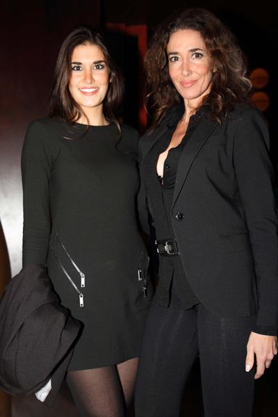 Elsa Anka con su hija, modelo y actriz, Lídia Torrent.