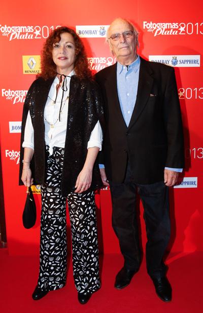 """Una pareja de """"cine"""", Eulália Ramón y Carlos Saura."""