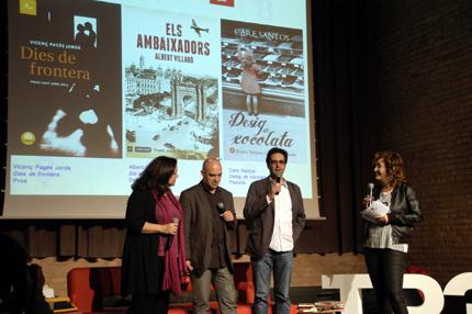 Care Santos, Albert Villaró i Vicenç Pagés, van parlar dels seus nous llibres, que seran de ben segur algunes de les grans atraccions d'aquest Sant Jordi.