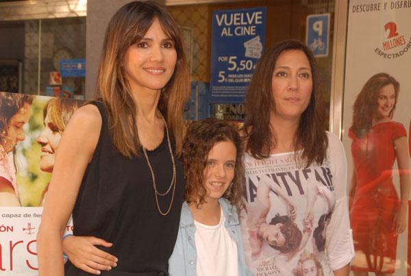 Las actrices Goya Toledo y Noa Fontanals acompañaron a Belén Macías, en la presentación del filme este pasado miércoles en Barcelona.