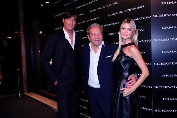 Luis Medina, Ermanno Scervino y Cristina Tosio
