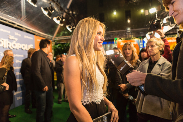 BARCELONA, SPAIN - FEBRUARY 03:  Shakira attends 'Zootropolis' premiere at Cinesa Diagonalon February 3, 2016 in Barcelona, Spain.  (Photo by Xavi Torrent/Getty Images) *** Local Caption *** Shakira