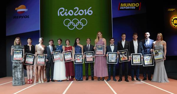 Imágen de 17 ganadores olímpicos de Rio. Foto - Prensa Gala del Deporte.