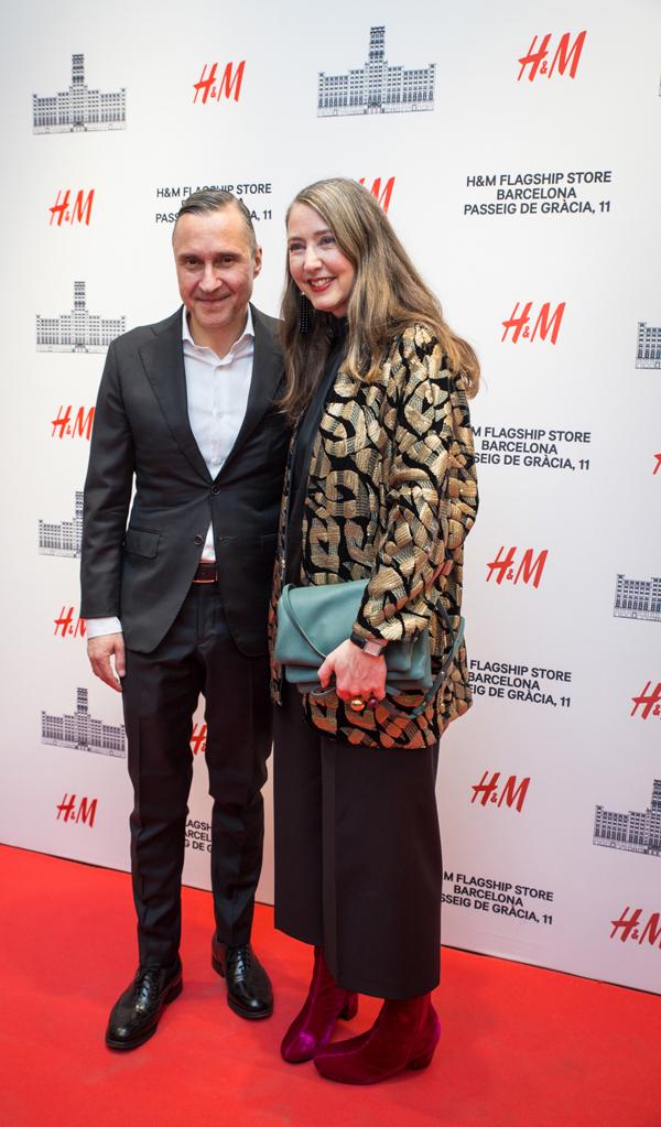 .Ralf Wein, DG H&M España y Ann - Sophie Johanson, Head of Design H&M