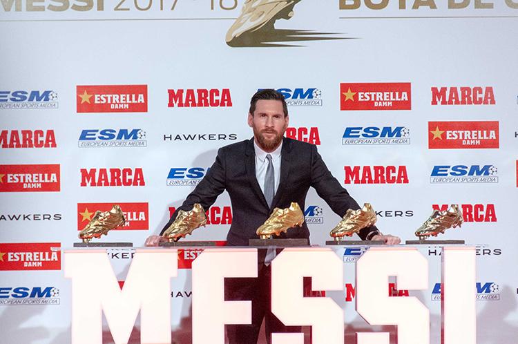 Leo Messi quinta bota de oro 2017 18 Barnafotopress.jpg port