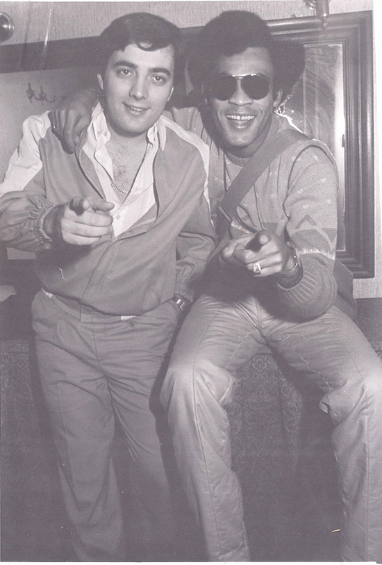 Xarli Diego amb Bobby Farell (Boney M)