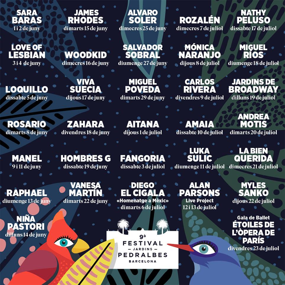 Grandes artistas en la 9ª edición del Festival Jardins Pedralbes –  Barnafotopress